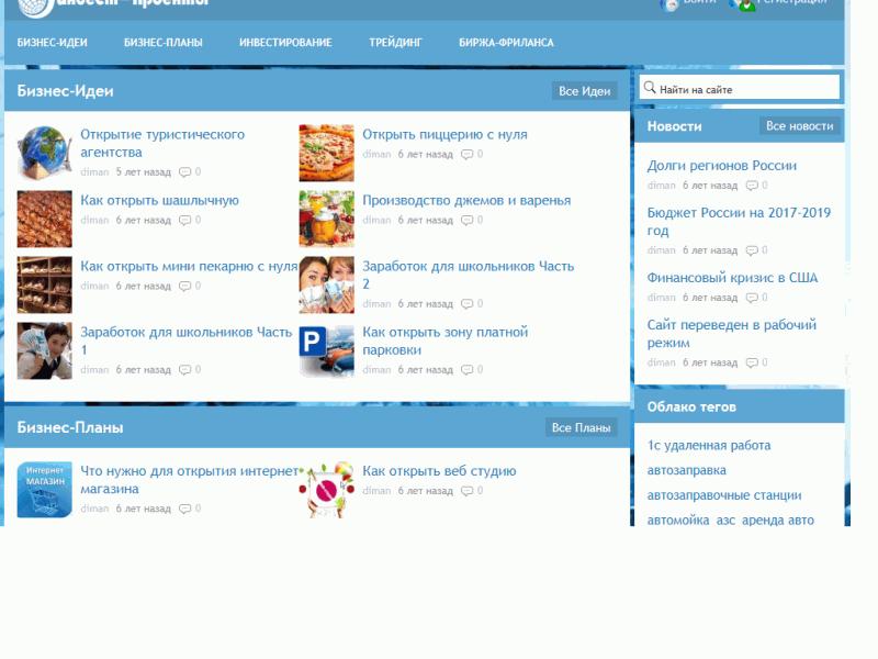 Инвест-проекты - информационный портал по бизнес идеям и планам, способам инвестирования, торговле и - invest-projects.ru